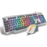 Wholesale B STORM QWERTY High Speed Colorful LED Backlit Pro Gaming Keyboard Buttons DPI Adjustable Optical Mouse Combo USB Wired order lt no