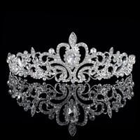 Cheap Exquisite 2016 Wedding Tiara Rhinestones Headband Crystal Bridal Crown Headpiece Wedding Hair accessories MK008