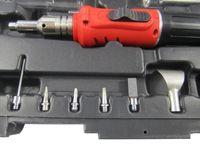 Hierro de gas de encendido electrónico HS-1115K 10 en 1 Kit de soldadura de gas butano profesional Kit de soldadura Soldador de gas