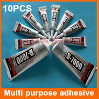 Wholesale 10PCS ml ml Multi purpose adhesive B7000 DIY Tool cellphone samsung iPhone LCD Touch Screen middle Frame housing Glue