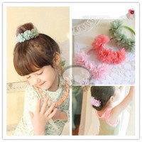 beautiful head wreath - 2015 New Arrival Girls Wreaths Beautiful In Stock Chrysanthemum Headpiece Cheap Birthday Gift Hair Bands High Quality Hairpin Online Sale