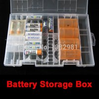 battery rack organizer - Rack Transparent Hard Plastic Battery Case Storage Box AO P