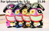Cheap 2014 Sale Promotion No Free Shipping Cute 3d Pirate Rubber Silicon Case For Iphone5 5s Cell Phone Cases Covers To Iphone4 4s