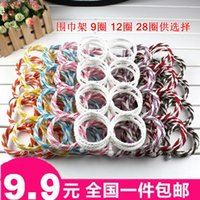 Wholesale The bag can be folded metal scarf rack clothing store clothes rack display rack ring ring clothing display ring