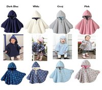 Wholesale High quality Cotton DHL Winter Baby Clothes Hoodies Coat Combi Reversible Mantles Boys Girls Blouses Outerwear