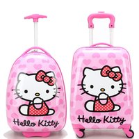 Wholesale Fashion New Cartoon Kids Rolling Luggage Children Trolley School Bags Suitcase Travel Bag Pull rod Suitcase