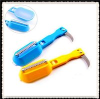 Wholesale Useful Fish Scraper Stainless Steel Clean Fish Knife For Cleaning Fish Skin Scaler fishing ferramentas H141
