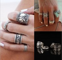 Wholesale Women Fashion Retro Accessories Girl Metal Rings Lady Rings Women Band Rings AF625