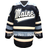 bears white jersey - Factory Outlet Custom N C A A University Maine Black Bears K1 Home Hockey Jersey Customized Any Number Any Name Sewn On S XL