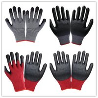 latex coated work gloves - 2016 New Arrival Black Latex Coated Red And Grey Cotton Security Working Glove LLY200 Color
