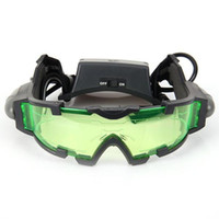 night vision goggles - 2015 Portable Sport Camping Equipment Green Lens Adjustable Night Vision Goggles Glasses Eyewear With Flip out Light