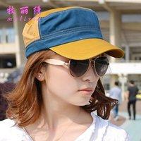 Wholesale Mixed Batch nbsp2015 spring and summer spell color Ms navy flat cap women cap flat cap hat paternity nbsp a001
