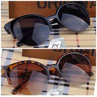 Wholesale Fashion Retro Designer Super Round Circle Glasses Cat Eye Semi Rimless Sunglasses Glasses Goggles