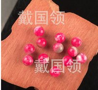 Wholesale Promoting the new round pearl powder quality high grade pink peach blossom jade beads Peach blossom of jade beads DIY accessories