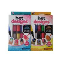 Wholesale Hot Designs personality in1 nail pen double headed nail polish pencil Manicure artifact