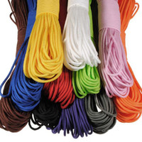 Wholesale 50ft pc m Paracord Parachute Cord Lanyard Rope Mil Spec Type III strands colors for option