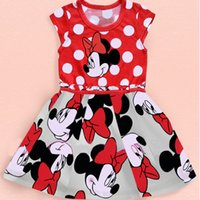 Wholesale summer style girls dresses minnie mouse dress children clothing princess dress Years baby girl clothes LY
