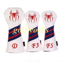 Wholesale High quality Volf Golf Spiderman Golf Woods Club headcover Leather Golf Driver Fairway woods headcover