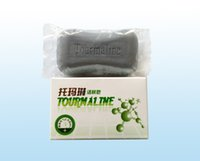 Wholesale Best selling factory directly wihtening soap tourmaline skin friendly black color antibacterial function
