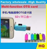 Wholesale TF Card Reader Micro USB SD Card Reader Micro USB OTG adapter for Android Mobile Phone USB Flash Drive