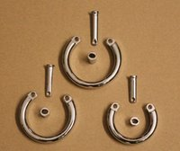 Wholesale Penis Lock ring Parts for Cock cage pc Metal cock Ring Male Chastity Device Part ring sizes for choice
