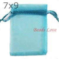 aluminum lake - Lake blue Jewelry Packing Drawable Organza Bags Wedding Gift Bags CMX9CM W03185