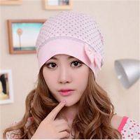 Wholesale 2014 New Fashion Bowtie Decoration Cap Casual Windproof Hat For Pregnant Lady Warm Women Hat