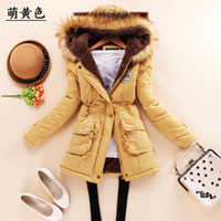 Wholesale new winter military coats women cotton wadded hooded jacket medium long casual parka thickness plus size XXXL quilt snow outwear