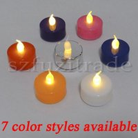 Wholesale New Party Wedding Christmas Home Decoration Yellow Light Candle Light Flameless Tea Lamps Electric Candles