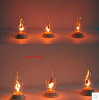 Wholesale E14 w led candle light bulbs v flame blinking effect