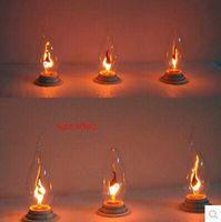 Wholesale E14 w led candle light bulbs v flame blinking effect