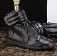 Cheap men shoes 2016 new high top 100% Genuine leather sneakers Maison Martin Margiela Martin Classic style Size 38-46