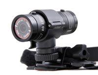 Wholesale New Aluminum Mini F9 MP HD P H Waterproof Sports DV Camera Camcorder Car DVR Outdoor Bike Helmet AT F9 D1226