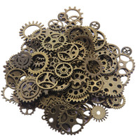 Wholesale Gold silver vintage bronze Mixed vintage punk gears charms steampunk gears charms pendant fit diy jewelry