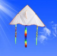 Wholesale Creative DIY kite coloring Blank hand painted children s cartoon kite Single Line Novelty Kites Children s Toys Small Size