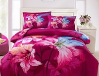 Cheap Christmas Bedding Best 3D Red Lily Cotton