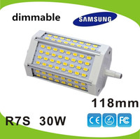 Wholesale High power dimmable w mm LED R7S light Samsung SMD J118 R7s lamp replace w Halogen lamp AC85 V
