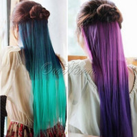 clip in one piece extensions - High Quality quot quot Fashion Multicolor Woman One Piece Clips Clip in Synthetic Straight Hair Extension