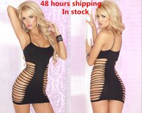 adult customes - New Mesh Sexy Customes Uniform Temptation Strapless Spaghetti Underwear For Adult Sexy Lingerie For Women Black Chemise Dress Sleep Wear