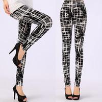 Wholesale Black Milk Leggings with Print Microfiber Soft Pants Plus Size for New Leggins
