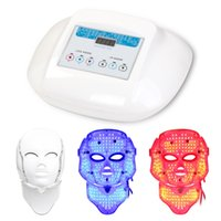 acne treatment systems - Smart system Led light therapy mask Three colors photon led LED facial neck mask for clinic use