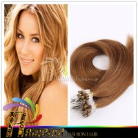 hair extension micro beads - HOT Quality inch20inch22inch24inch26inch micro beads links remy hair extension g dark brown Loop hair extension