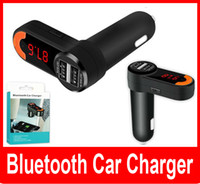 Wholesale Car Handfree Chargers Bluetooth Car Charger FM Transmitter MP3 Player Dual USB for Car BC10 V A