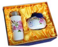 Wholesale Pastel ceramic mug Magpies Fumantang door manufacturers custom Annunciation wishful Caddy Set