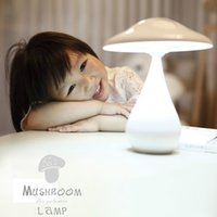 Wholesale 2015 NEW USB LED Rechargeabl Mushroom air purification lamp ultra bright leds Anion clean air purifier Adjustable Touch Night Light