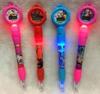 led point - 30pcs new froze Cartoon ball point pen Electronic watch ball pen LED light ball point pen