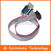 Wholesale 9 Pin Serial Port Connector With Ribbon Cable DB9 Male With Pin Header
