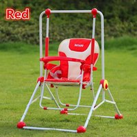 Wholesale Metal Baby Safety Swing Toys Single Seats Indoor Dining Chair Swing Chair Child Outdoor Garden Colors Best Service