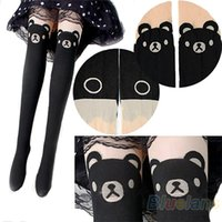 bear print tattoos - NEW Japan Cute Teddy Print Thigh High Socks BEAR TAIL TATTOO PANTYHOSE W