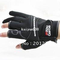 Wholesale Abu Garcla Softshell Gloves Cut Finger Anti Water Proof Fishing Gloves L
